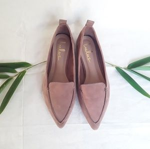 Lulus Light Brown Pointy Toe EMMY Flats 5.5